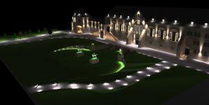 DIALux Simulation der Kaiserpfalz Goslar