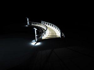DIALux Simulation Brücke vor Haus 9