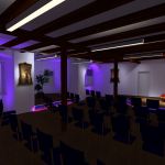 DIALux Simulation des Szenarios Konzert im Rittersaal
