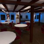 DIALux Simulation Szenario Gastronomie im Rittersaal