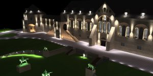 DIALux Simulation Kaiserpfalz Goslar