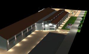 DIALux Simulation Haus 9 der Hochschule Harz